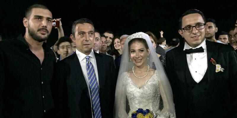 Ali Koç Fenerbahçeli taraftarın nikah şahidi oldu