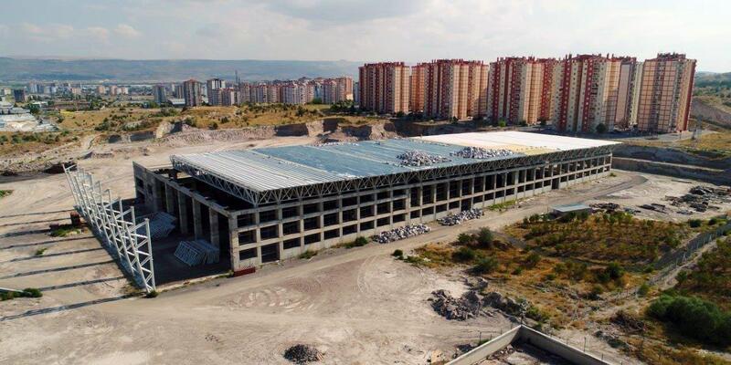 OSB Uluslararası fuar ve kongre merkezinin inşaatı  hızla devam ediyor