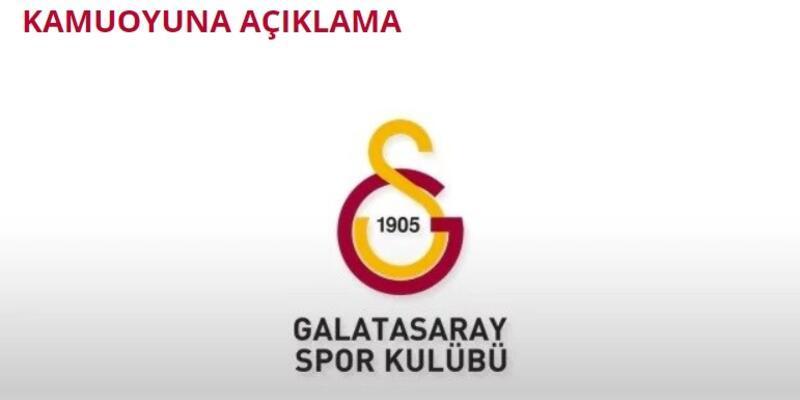 Galatasaray'dan kamuoyuna açıklama