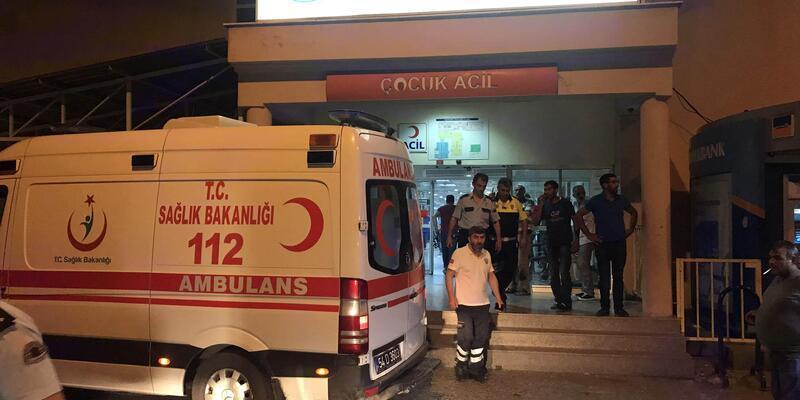 Akrabasını hastaneye getiren gence silahlı saldırı:1 ağır yaralı