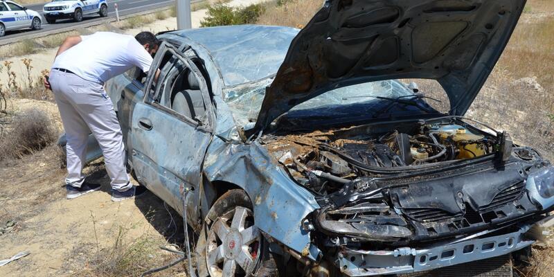 Darende'de otomobil devrildi: 6 yaralı