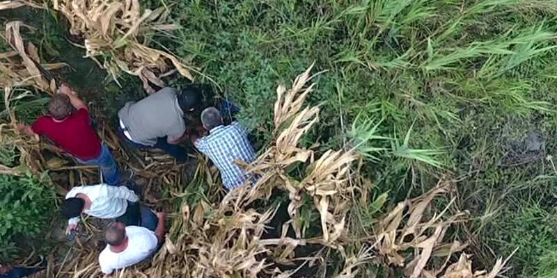 Cezaevi firarisi, drone ile tespit edildiği tarlada yakalandı