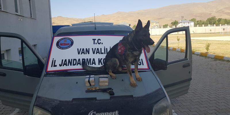 Van'da 2 kilo eroin ve 1 ruhsatsız tabanca ele geçirildi
