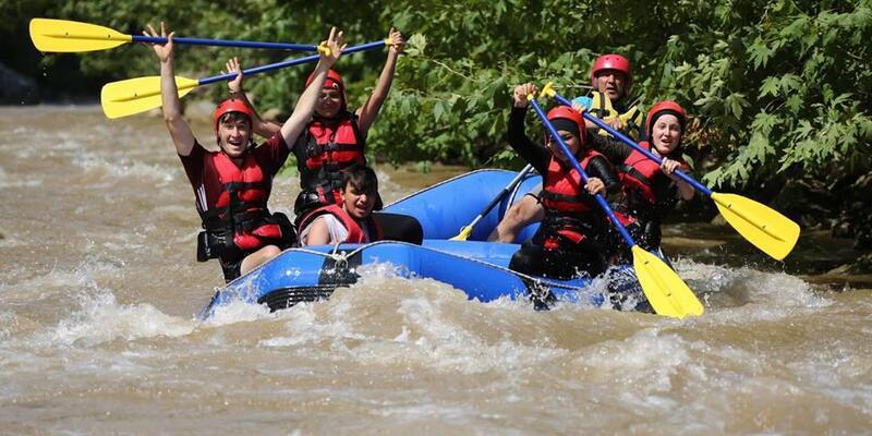 Kayseri'de, rafting heyecanı