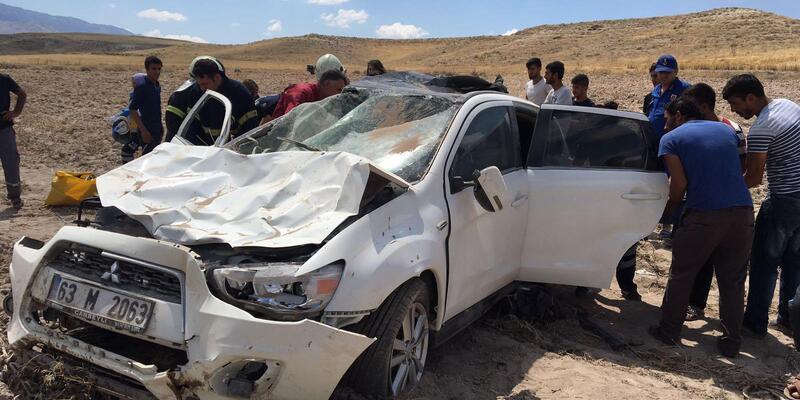 Aksaray'da otomobil takla attı: 5 yaralı