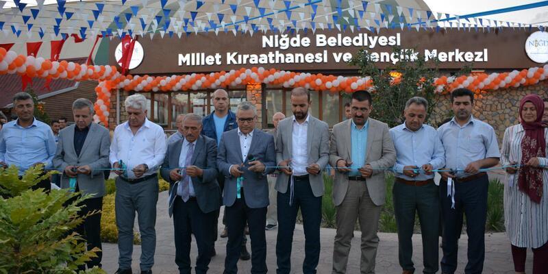 Niğde'ye Millet kıraathanesi ve gençlik merkezi açıldı