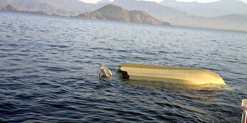 Yatın çarptığı balıkçı teknesi alabora oldu: 1 ölü, 1 yaralı