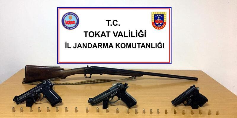 Tokat'ta silah kaçakçılığı operasyonunda 1 gözaltı