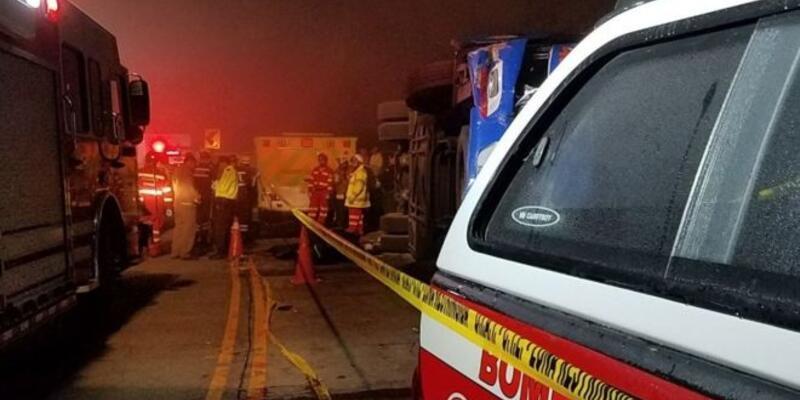 Ekvador ekibi Barcelona'nın taraftarlarını taşıyan otobüs kaza yaptı: 12 kişi öldü