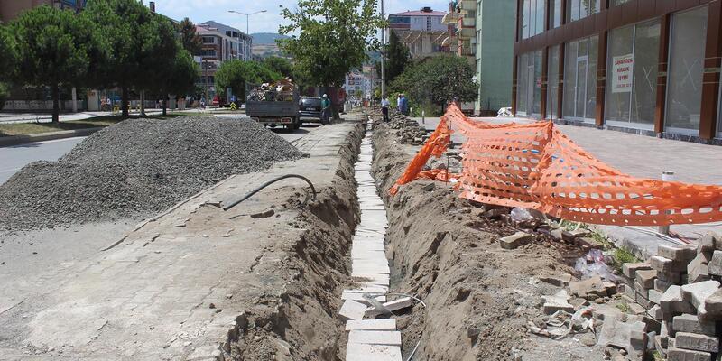 Tekkeköy'de enerji nakil hatları yeraltına iniyor
