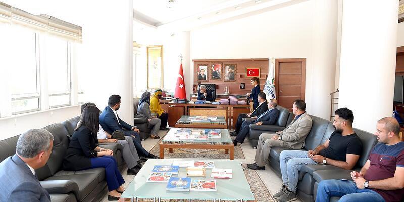Irak heyetinden Başkan Polat'a ziyaret
