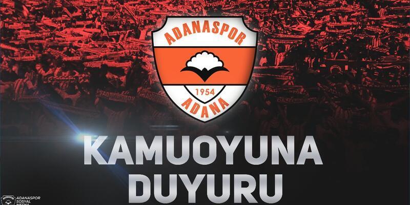 Adanaspor: Bu bıçak Adanaspor camiasına atılmıştır