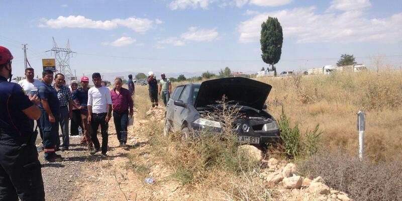 Otomobil şarampole düştü: 6'sı çocuk, 10 yaralı