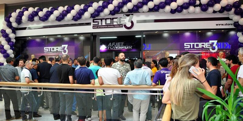 Afyonspor ürünleri Store 3'te satılacak