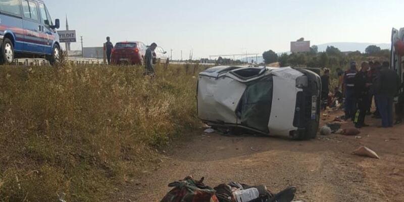 Bayram tatiline giden aile kaza yaptı: 9 yaralı