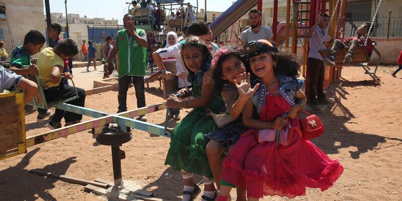 Suriyeli çocuklar 'Bayram Şenliği'nde eğlendi