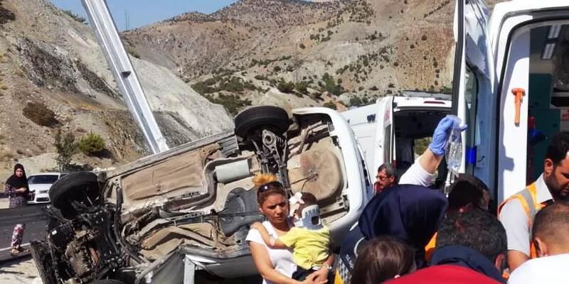 Malatya'daki kazada 1 yaşındaki Beril Nisa öldü, 3 yaralı