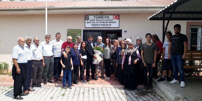 Tuğgeneral Atak'tan şehit ailelerine ziyaret