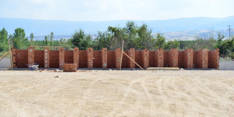 Erbaa'da geçici bakım evinin inşasında sona yaklaşıldı
