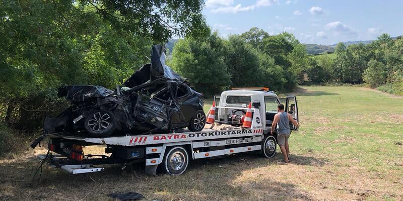 Şarampole yuvarlanan otomobilin sürücüsü öldü