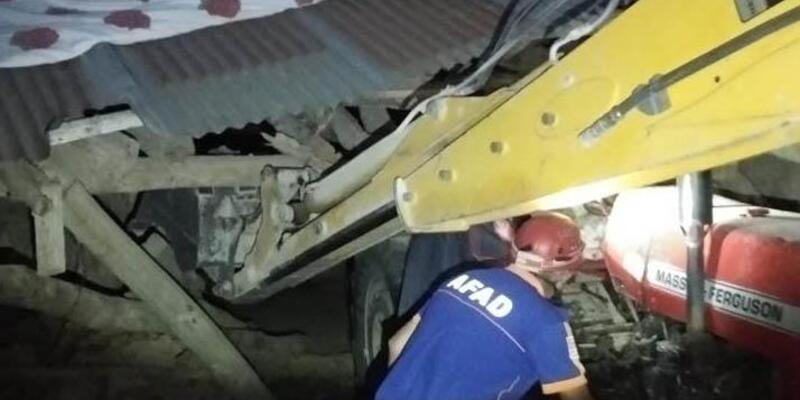 Metruk binanın çatısı çöktü, 2 kardeş yaralandı