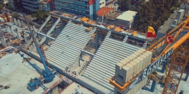 Göztepe'nin stadı yükseliyor