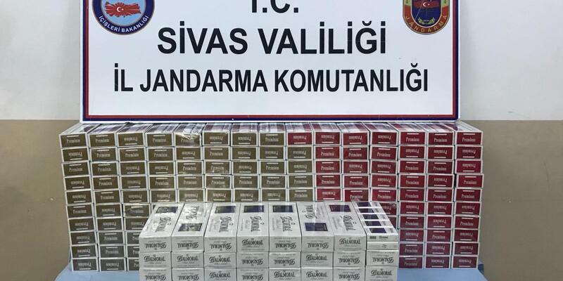 Sivas'ta 4 Bin 796 paket kaçak sigara yakalandı