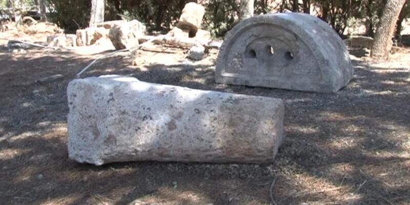 Altyapı çalışmasında tarihi kalıntılar ortaya çıktı
