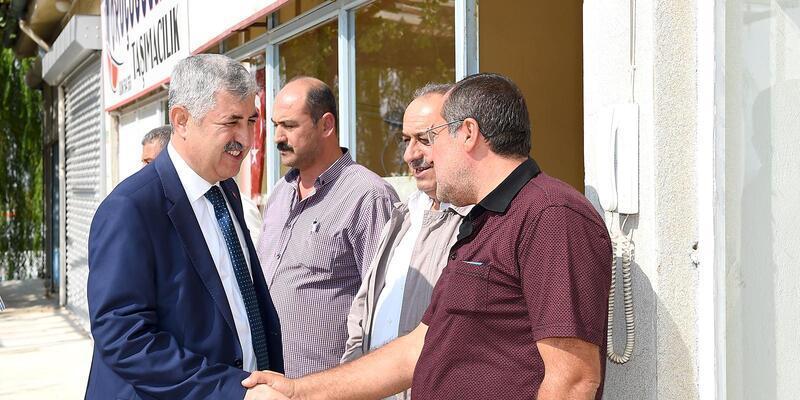 Başkan Polat'tan nakliyatçılara ziyaret
