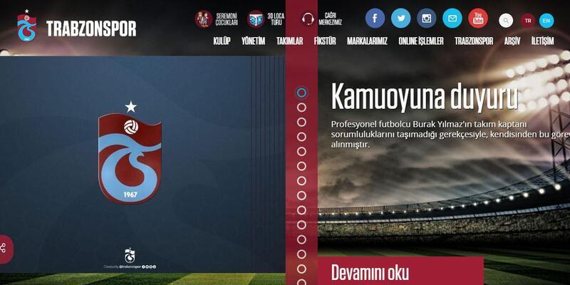 Trabzonspor'da Burak Yılmaz kaptanlık görevinden alındı