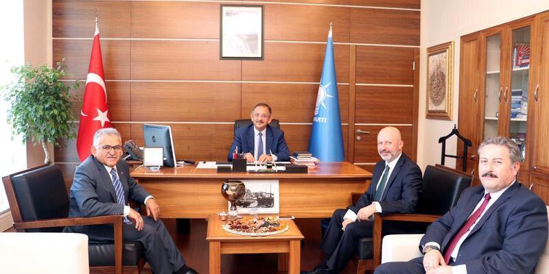 3 büyük ilçe belediye başkanından Özhaseki'ye ziyaret