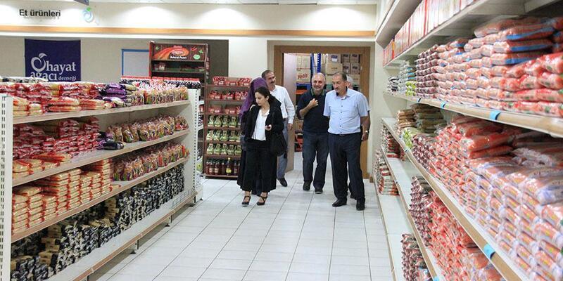 Eyüpsultan Belediyesi'nden Gıda Bankası'na ziyaret