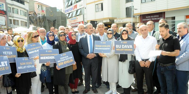 AK Parti Yalova Teşkilatı, ölüm yıl dönümünde Menderes'i andı
