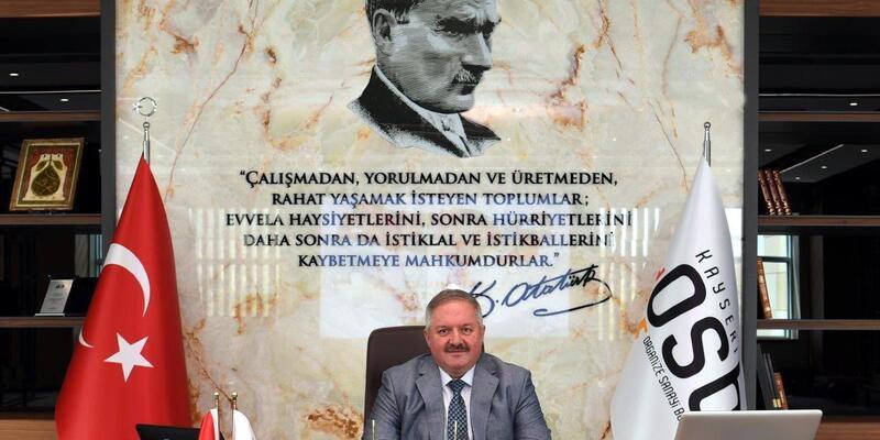 Kayseri OSB Başkanı Nursaçan'dan Gaziler Günü mesajı