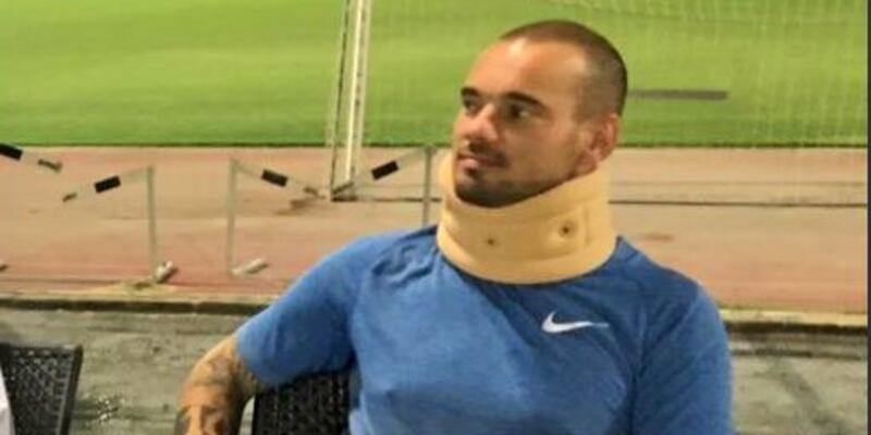 Wesley Sneijder trafik kazası geçirdi