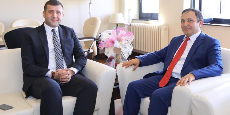 Milletvekili Ersoy'dan Rektör Çalış'a hayırlı olsun ziyareti