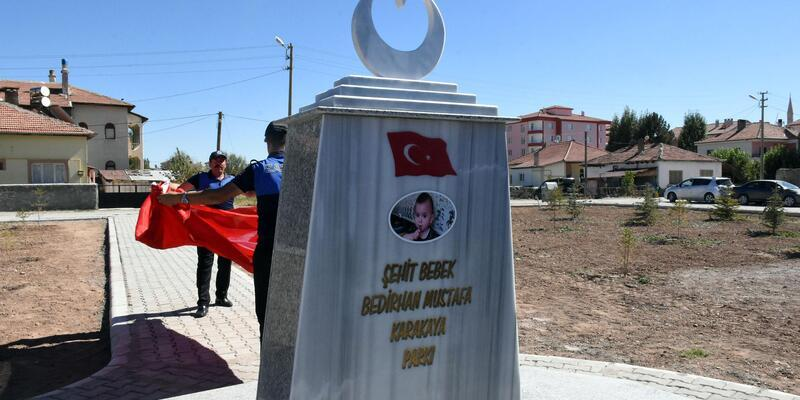 Şehit Bedirhan Mustafa bebeğin adı verilen park hizmete açıldı