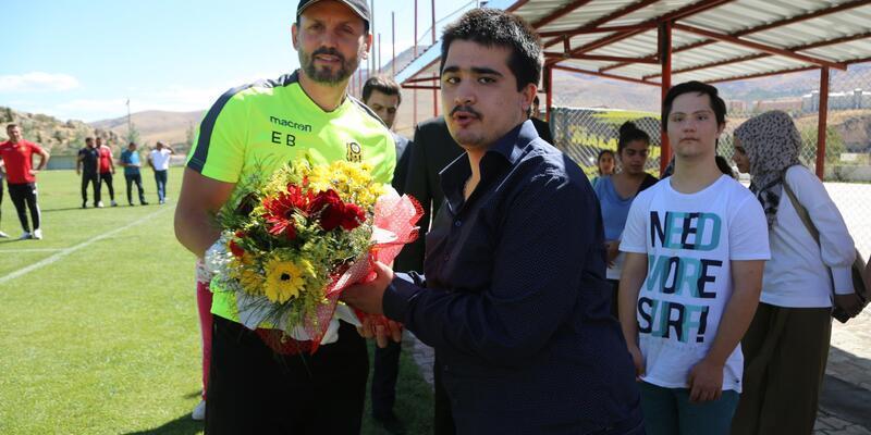 Özel gereksinimli bireylerden, Malatyaspor'a ziyaret