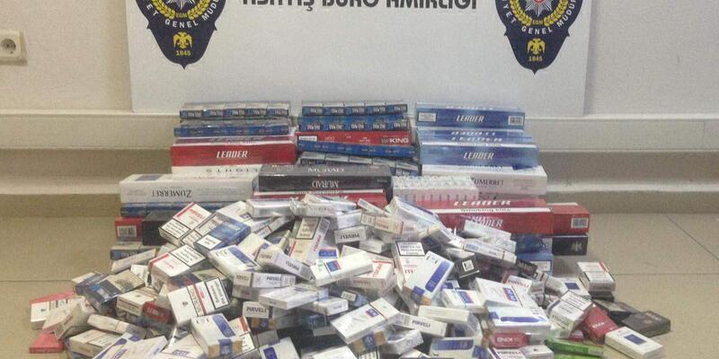 Gölcük'te 1255 paket kaçak sigara ele geçirildi