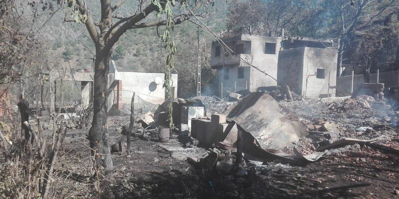 Kastamonu'da 9 ev ve 6 ahırın yandığı köyde hasar tespiti