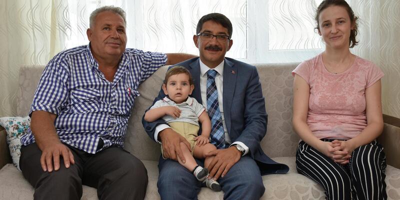 Başkan Çelik'ten vatandaşa ev ziyareti
