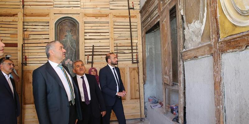Başkanlar restore eden tarihi yapıları inceledi
