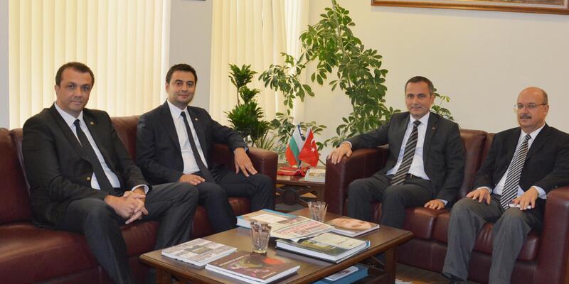 Çorlulu iş insanları, Filibe Başkonsolosu Ergani'yi ziyaret etti
