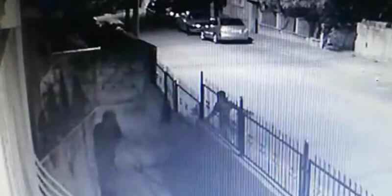 Balkondan çamaşır hırsızlığı kamerada