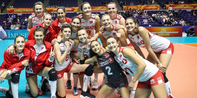 A Milli Kadın Voleybol Takımı, Dünya Şampiyonası'nda 2. Tur'a çıktı