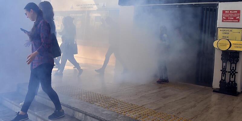 İzmir Büyükşehir Belediyesi'nde acil durum tatbikatı