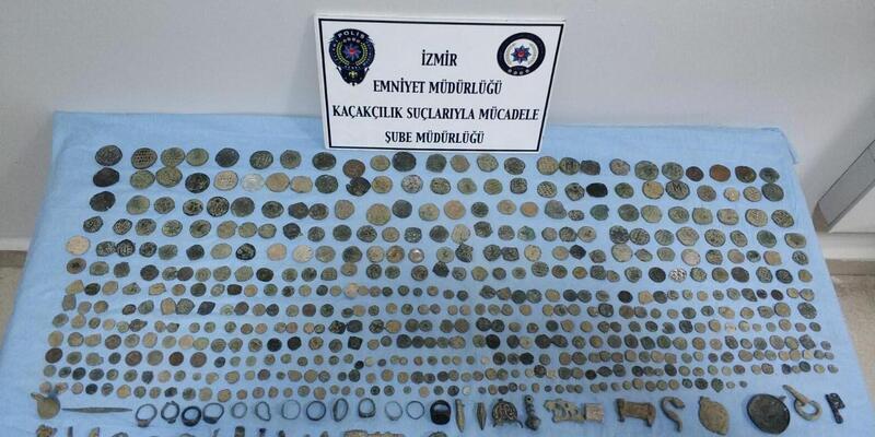 İzmir'de tarihi eser operasyonu: 1 gözaltı