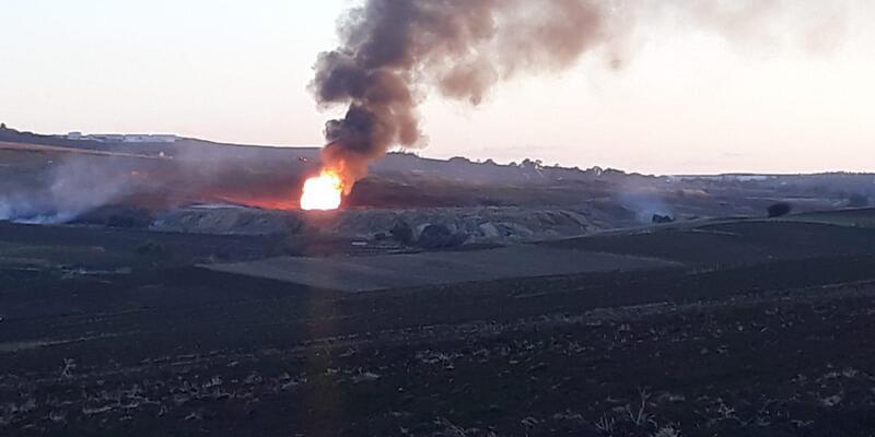 Silivri'de doğalgaz patlaması sonrası yangın (3)