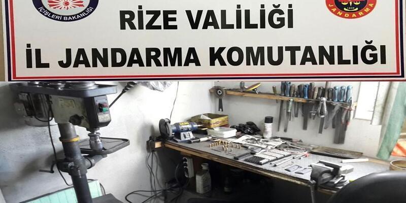 Rize'de kaçak silah imalatı ve uyuşturucu baskını: 7 gözaltı