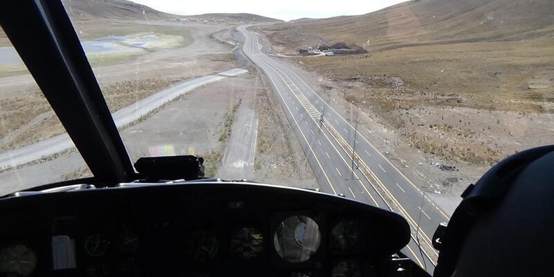 Helikopterle trafik denetimi yapıldı